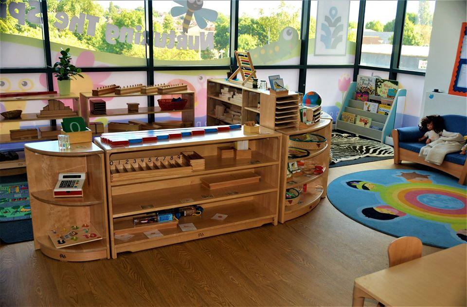 bookshelf at a Preschool & Daycare Serving Colindale, Edgware & St Albans UK