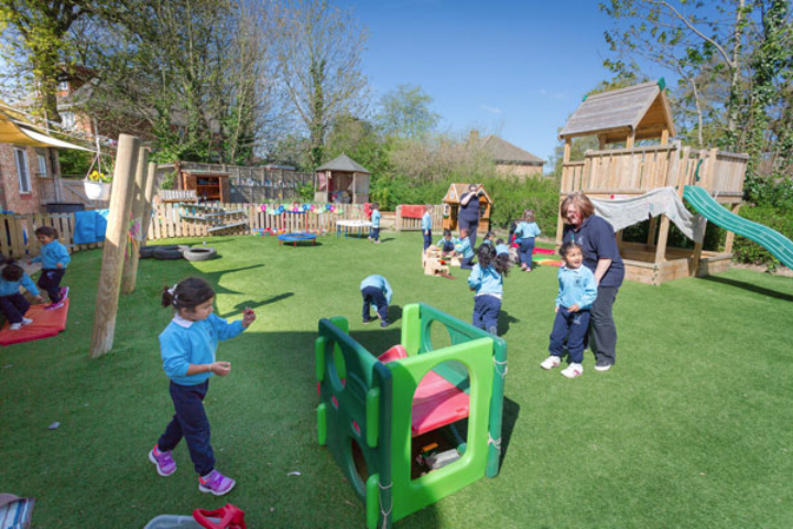 children playing outdoor at a Preschool & Daycare Serving Colindale, Edgware & St Albans UK