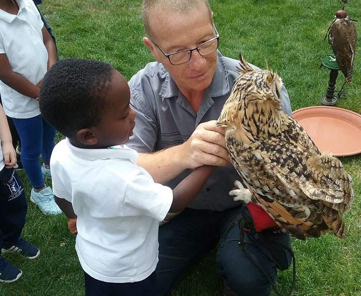 happy toddler with animal at a Montessori Pre-school and Nursery Serving Colindale, Edgware & St Albans UK